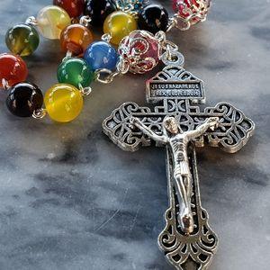 8 mm Amethysts Beads Catholic Rosary